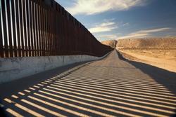 The border fence between Anapra, New Mexico and Juarez Mexico