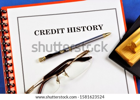 The borrower's credit history on past loans of money from banks, organizations, government agencies, is estimated and calculated Credit scoring.
