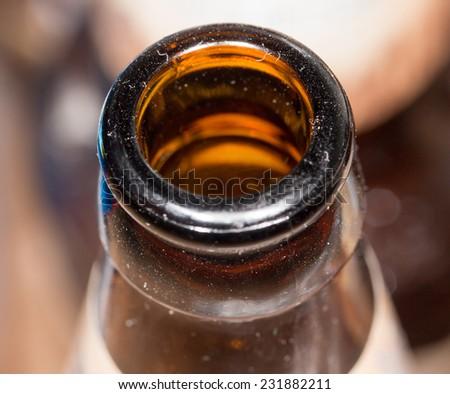 the bottle neck. close-up