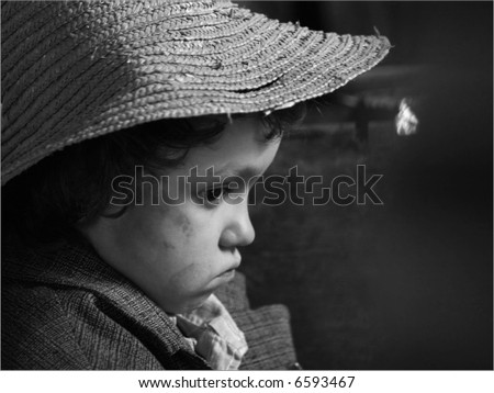 The boy in a straw hat