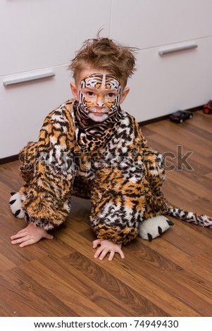 The boy in a tiger suit