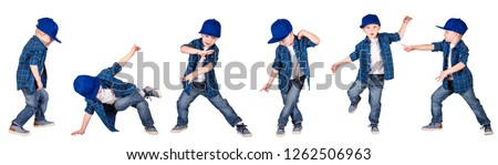 The boy in the style of Hip-Hop . Children's fashion. Сток-фото ©