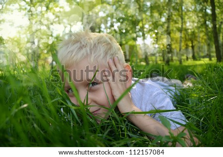 the boy who hides in a grass