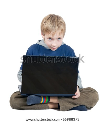 The boy with the laptop