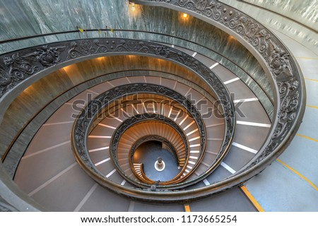 The Bramante Staircase is a double helix, having two staircases allowing people to ascend without meeting people descending #1173665254