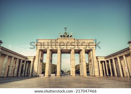 the brandenburg gate ...