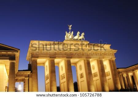 "The ""Brandenburger Tor"" at night, Berlin, Germany"