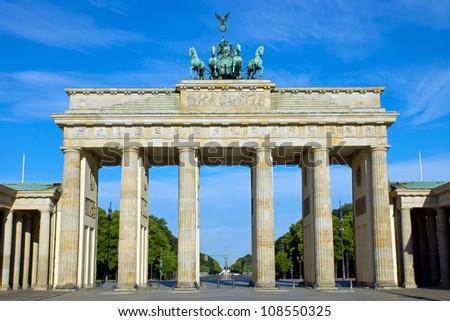 The Brandenburger Tor in Berlin