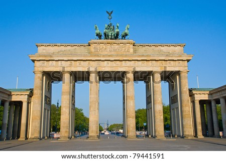 The Brandenburger Tor in Berlin early in the morning