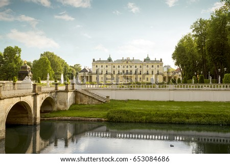 The Branicki Palace and park in Bialystok, Poland