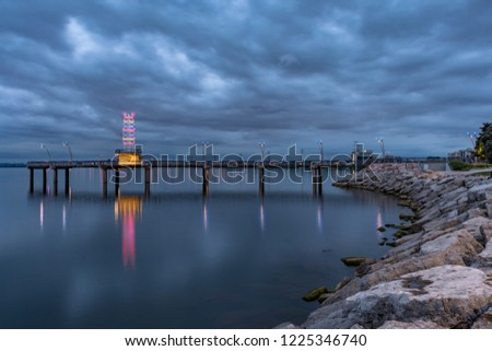 The Brant Street Pier in Burlington Ontario Canada