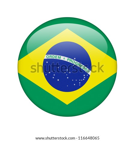 The Brazilian flag in the form of a glossy icon.