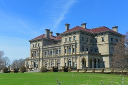 The Breakers is a Vanderbilt Mansion in Gilded Age with Neo Italian Renaissance style in Newport , Rhode Island RI, USA. This mansion is the largest building in Newport.