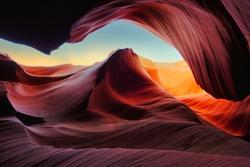 The breathtaking Antelope Canyon in Arizona, the USA