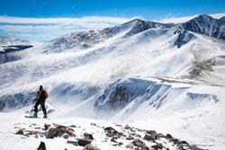 The Breckenridge Mountain with Skier on Peak8