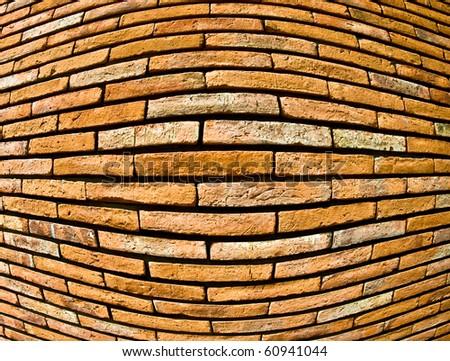 The Brick wall texture fisheye