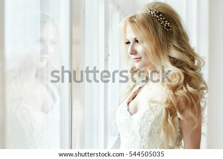 the bride in a wedding dress...