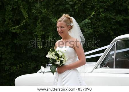 As etapas do bride fora de seu carro
