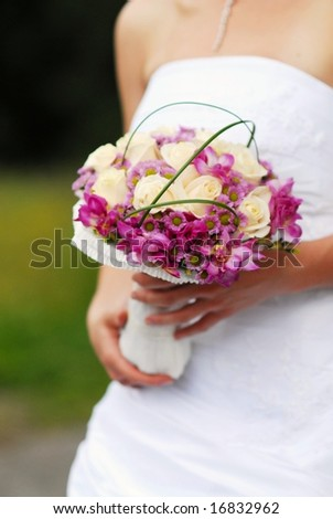 The bride with wedding bouquet