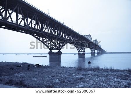 the bridge across the yangtze river, China