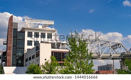 The Bridge Building at Cumberland Park in Nashville - NASHVILLE, TENNESSEE - JUNE 15, 2019 #1444016666