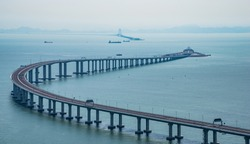 The Bridge connecting Zhuhai to Hong Kong and Macau of china