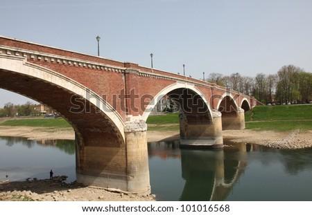 The bridge over the Kupa at Sisak, Croatia