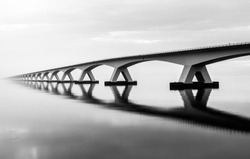The bridge that seems to never end. It connects two big pieces of land in the south-west of the Netherlands and is, with 5km, actually the longest bridge in the Netherlands!