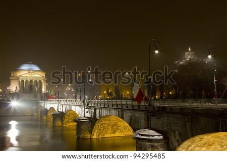 the bridge vittorio emanuele I in turin italy
