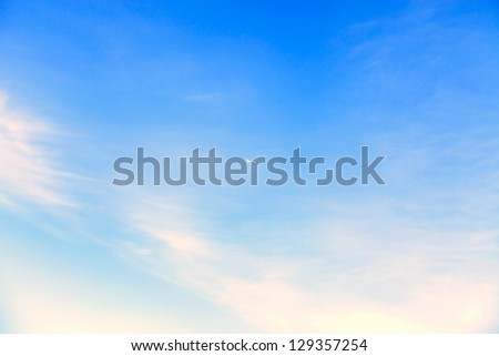 The bright blue sky with white clouds. Plane view from the window
