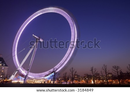 The British Airways London Eye at Twilight