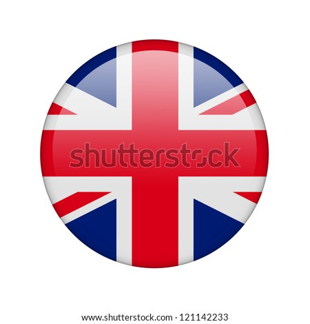 The British flag in the form of a glossy icon.