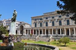 The British palace at Corfu island in Greece