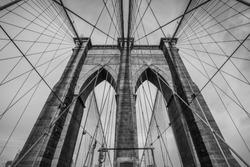 The Brooklyn bridge, New York City. USA.