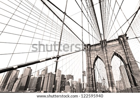 The Brooklyn bridge, New York City. USA. #122595940