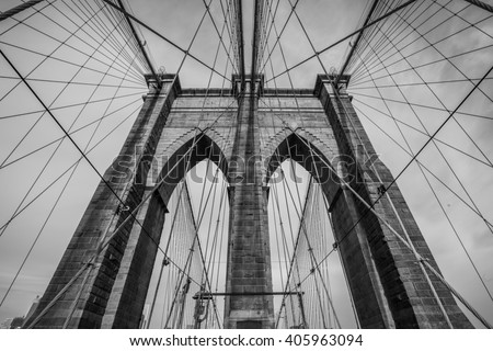 The Brooklyn bridge, New York City. USA. #405963094