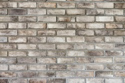 The brown brick wall, many squares, a close look that is strong, it has a white fade, vintage design