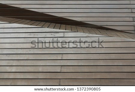 The brown old wooden panel set as the retro exterior decoration. Wallpaper image. Background image. Abstract image. #1372390805