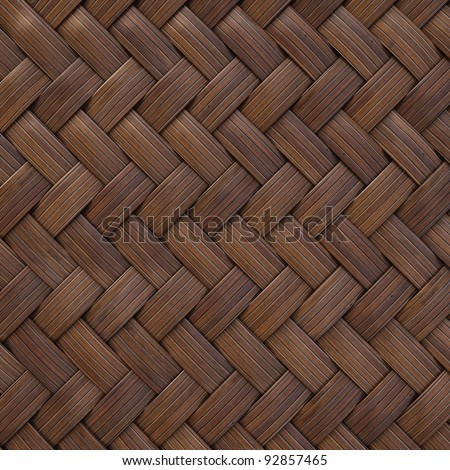 the brown wooden texture of rattan with natural patterns