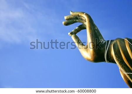 the buddha hand statue - stock photo