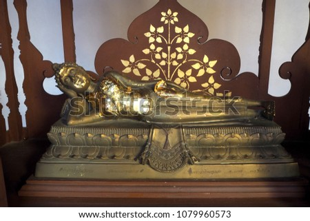 The Buddha statue look nice and look beautyful #1079960573
