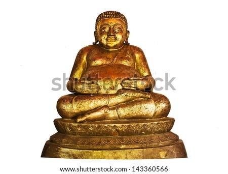 The Buddha status isolated on white background