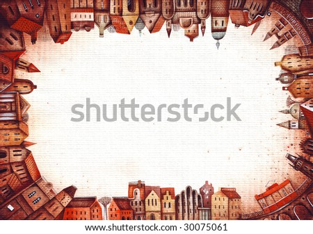 The building background with space for text