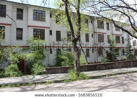 The building in Ankara where no one lives anymore Stok fotoğraf ©