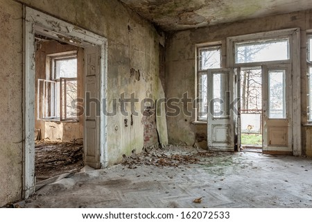 The building Masonic Lodge in ruins, Gdansk - Poland. #162072533