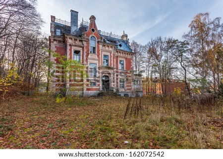 The building Masonic Lodge in ruins, Gdansk - Poland.