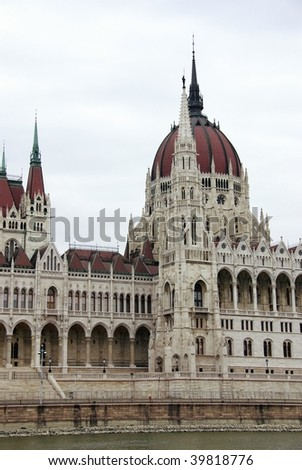 The building of the Hungarian parliament in Budapest #39818776