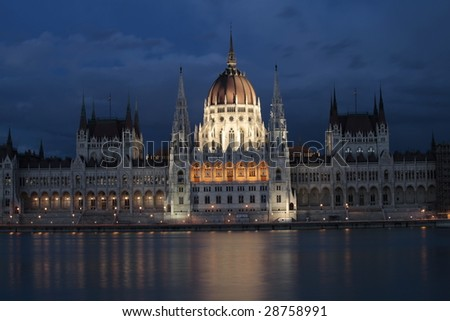 The building of the Parliament, Budapest, Hungary.