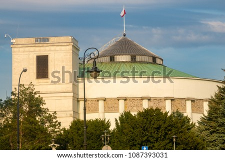 The building of the parliament of the Republic of Poland #1087393031