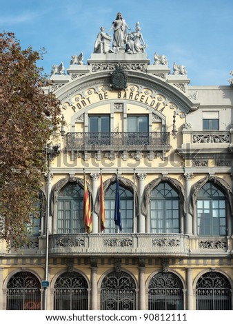 the building that today houses the Port Authority of Barcelona was planned in 1903 and completed in 1907. It is now classified as historic and artistic architectural heritage